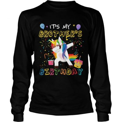 Awesome It's My Brother's Birthday Funny Kid longsleeve tee