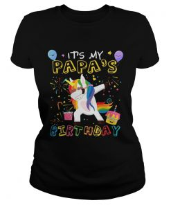 Awesome It's My Papa's Birthday Funny Kid ladies tee