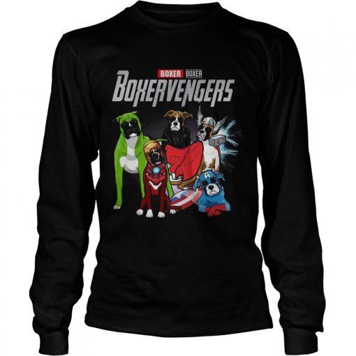 Boxer Boxervengers Marvel Avengers longsleeve tee