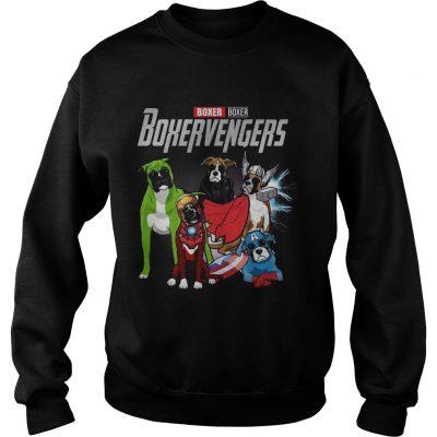 Boxer Boxervengers Marvel Avengers sweatshirt