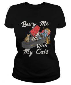 Bury me with my cats ladies tee