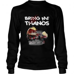 Captain Marvels cat bring me Thanos longsleeve tee