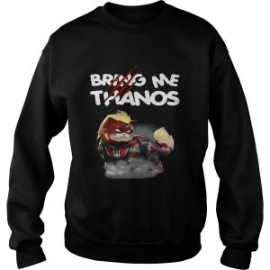 Captain Marvels cat bring me Thanos sweatshirt