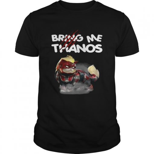 Captain Marvel's cat bring me Thanos shirt