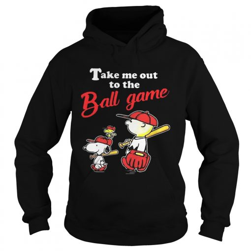 Charlie Brown Snoopy And Woodstock Take Me Out To The Ball Game hoodie