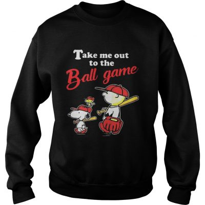 Charlie Brown Snoopy And Woodstock Take Me Out To The Ball Game sweatshirt