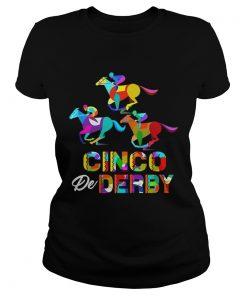 Cinco De Derby Horse Racing ladies tee