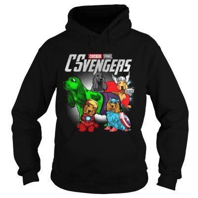 Cocker Spaniel CSvengers Marvel Avengers engame hoodie