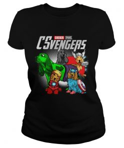 Cocker Spaniel CSvengers Marvel Avengers engame ladies tee