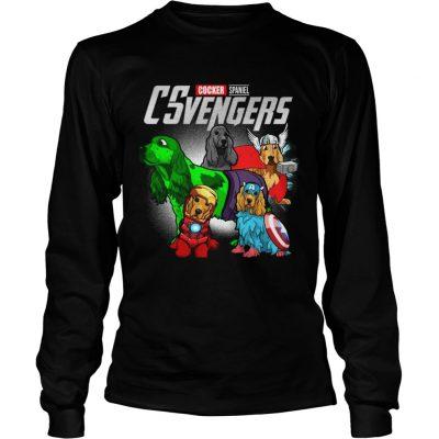 Cocker Spaniel CSvengers Marvel Avengers engame longsleeve tee