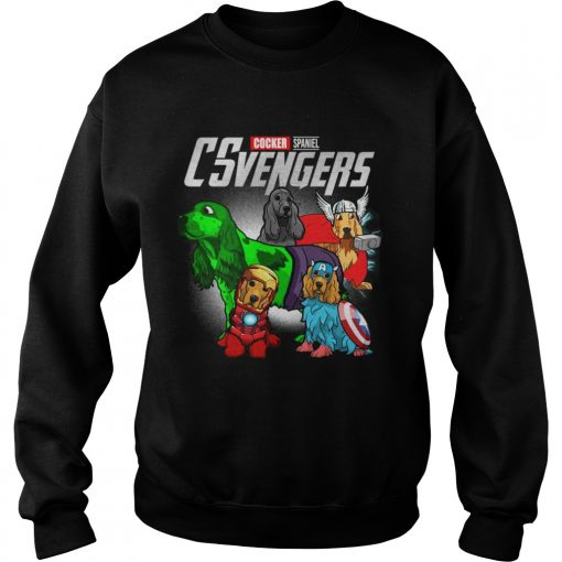 Cocker Spaniel CSvengers Marvel Avengers engame sweatshirt