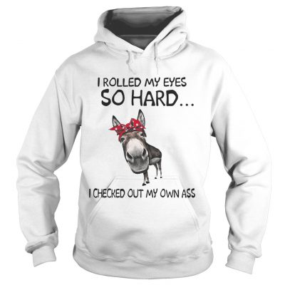 Cow I rolled my eyes so hard I checked out my own ass hoodie