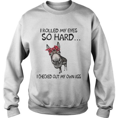 Cow I rolled my eyes so hard I checked out my own ass sweatshirt