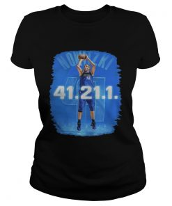 Dallas Mavericks Dirk Nowitzki 41 21 1 ladies tee