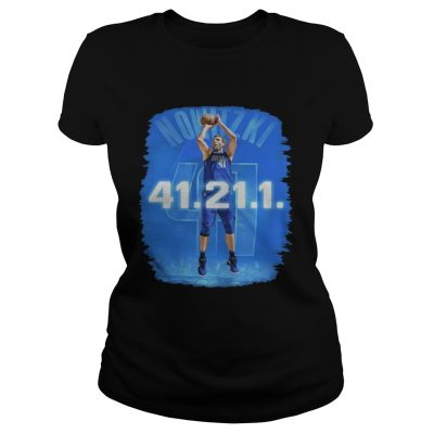 Dallas Mavericks Dirk Nowitzki 41 21 1 ladies tee