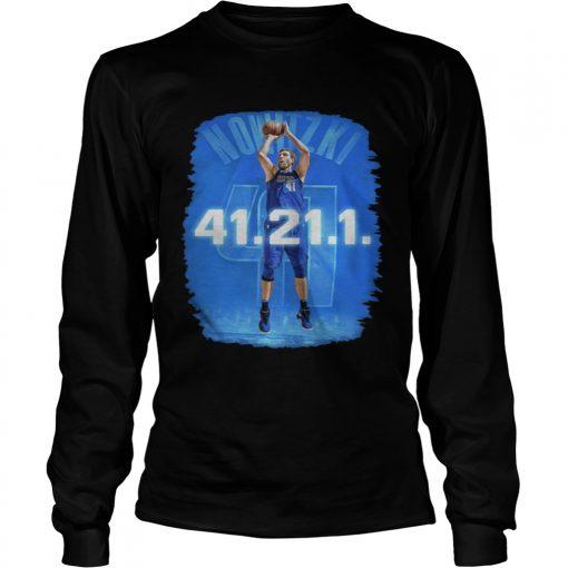 Dallas Mavericks Dirk Nowitzki 41 21 1 longsleeve tee