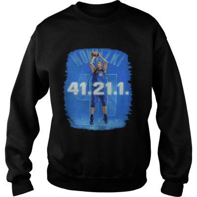 Dallas Mavericks Dirk Nowitzki 41 21 1 sweatshirt