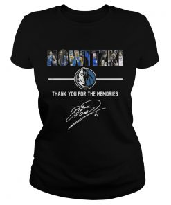 Dirk Nowitzki Thank You For The Memories ladies tee