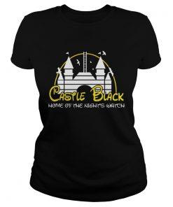 Disney castle black home of the nights watch ladies tee