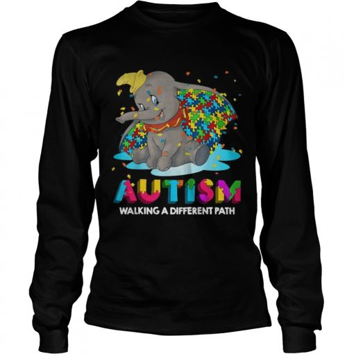 Elephant autism walking a different path longsleeve tee