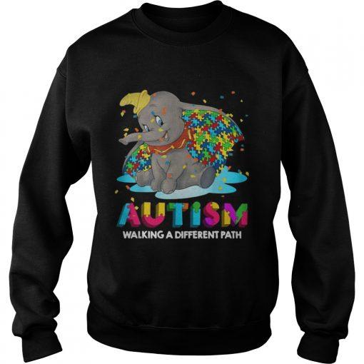 Elephant autism walking a different path sweatshirt