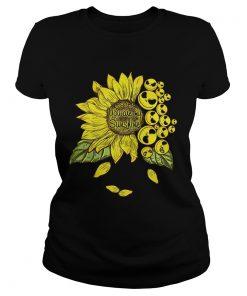 Face Jack Skellington you are my sunshine Sunflower ladies tee