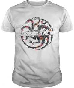 Flower Game of Thrones bend the knee tshirt