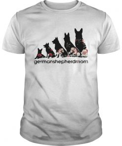 Flower dogs Germanshepherdmom shirt