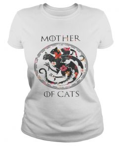Flower mother of cats game of Thrones ladies tee