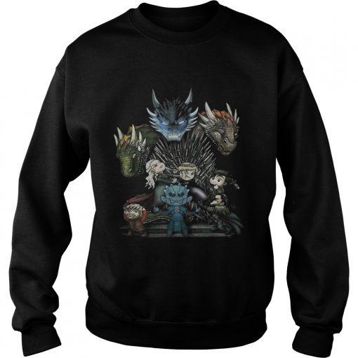 Game of Thrones Daenerys Targaryen Rhaegal and Viserion Chibi sweatshirt