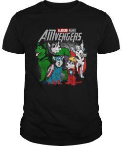Guys Alaskan Malamute AMvengers Marvel Endgame shirt