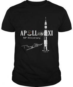 Guys Apollo 11 50th anniversary with Apollo astronaut Buzz Aldrin signature shirt