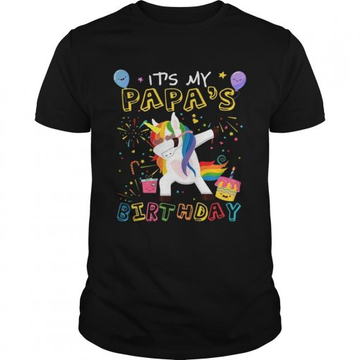 Guys Awesome It's My Papa's Birthday Funny Kid T-Shirt