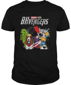 Guys Basset Hound BHvengers Marvel Avengers shirt