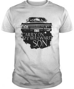 Guys Carry on my wayward son shirt