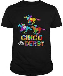 Guys Cinco De Derby Horse Racing Tshirt