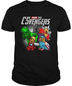 Guys Cocker Spaniel CSvengers Marvel Avengers engame shirt
