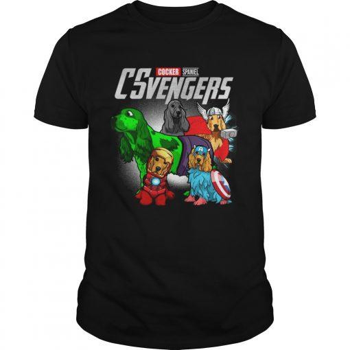 Guys Cocker Spaniel CSvengers Marvel Avengers engame shirt