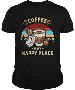 Guys Coffee Is My Happy Place Vintage shirt