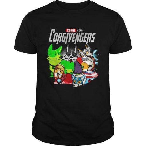 Guys Corgi Corgivengers Shirt