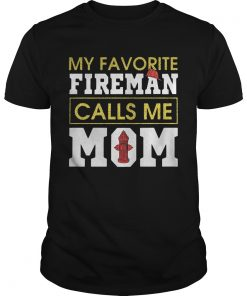 Guys Diamond My favorite fireman calls me mom shirt