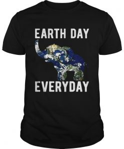 Guys Earth Day Every Day Elephant Earth Symbol Earth Day Tshirt
