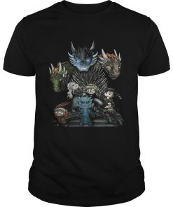 Guys Game of Thrones Daenerys Targaryen Rhaegal and Viserion Chibi shirt