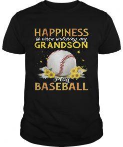 Guys Happiness I When Watching My Grandson Play Baseball TShirt
