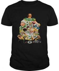 Guys Jordy Nelson Green Bay Packers signature shirt