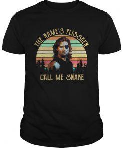 Guys Kurt Russell the names Plissken call me snake sunset shirt