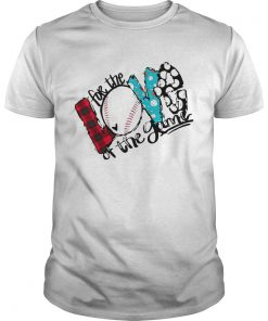 Guys Love For The Baseball Game For Baseball Lover shirt