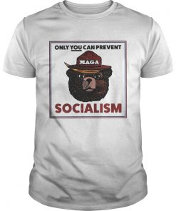 Guys MAGA Bear only you can prevent socialism shirt