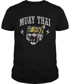 Guys Martial Arts Muay Thai Tiger Kickboxing Shirt
