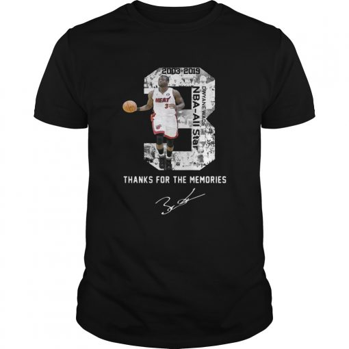 Guys Miami Dwyane Wade Thank You For The Memories shirt